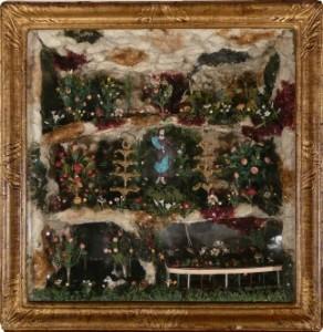 Paradis : le Christ ressuscité en verre filé. Bourgogne XVIIIème