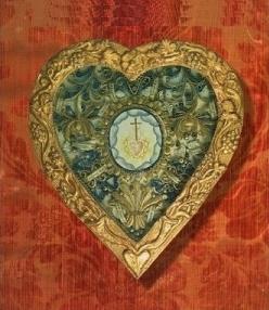 reliquaire : Sacré Coeur. Visitation XVIIIème