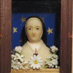 Cellule de nonne - Buste de Marguerite de Saint-Sacrement, carmel de Beaune, fin XIXe.