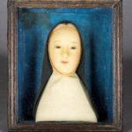 Cellule de nonne - Buste de Marguerite du Saint-Sacrement, carmel de Beaune, XVIIIe