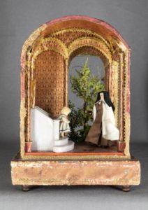 Cellule de nonne - Vision de Ste Thérèse d'Avila, carmel de Grenoble, XIXe