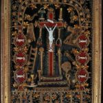 Crucifix entouré des instruments de la Passion. fin XVIIIe